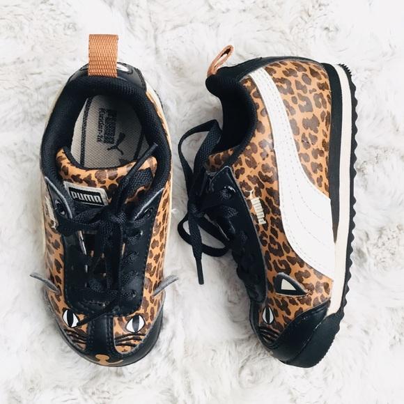 puma suede leopardo